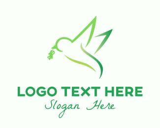 Feed - Eco Bird Foraging logo design