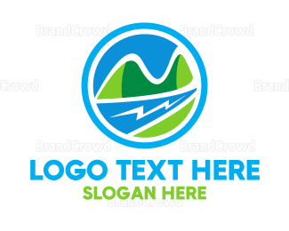 Creek - River & Valley logo design