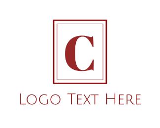 Sleek - Red C  Monogram logo design