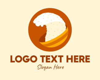 Asian Cuisine - Fried Rice Bowl  logo design