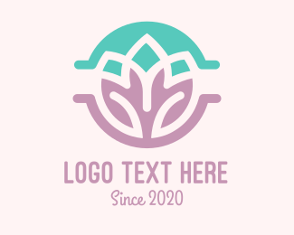 Mindfulness - Double Lotus logo design