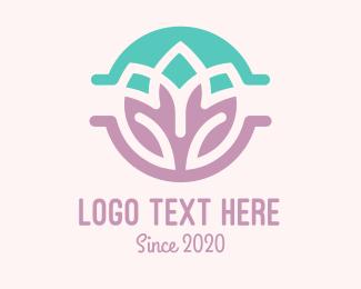 Business Card - Double Lotus logo design