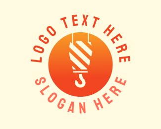Crane - Construction Lifter logo design