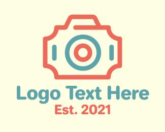 Ticket - Minimalist Camera Ticket logo design