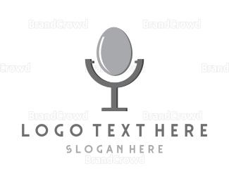 Commentator - Egg Microphone logo design