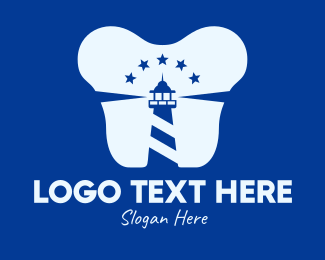 Dental - Blue Dental Lighthouse logo design