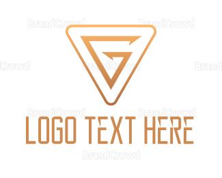 Edge - Gold Triangle G logo design