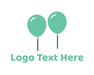 Event Planning - Mint Balloons logo design