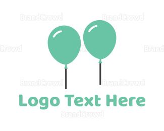 Birthday - Mint Balloons logo design