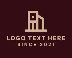 Real Estate - Minimalist Book Pile logo design