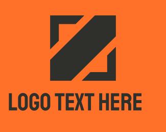Concreter - Square Black Slash logo design