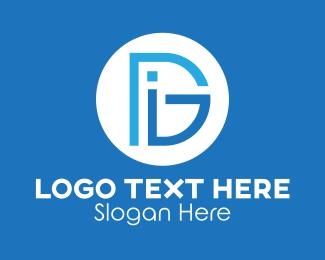 Architecture - Tech DIG Monogram logo design