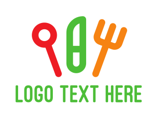Knife - Colorful Cutlery logo design