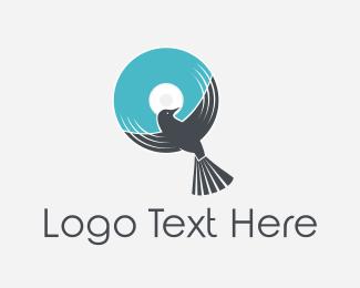 Disk - Bird Disc logo design