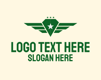 Pilot Training - Star Diamond Wings logo design