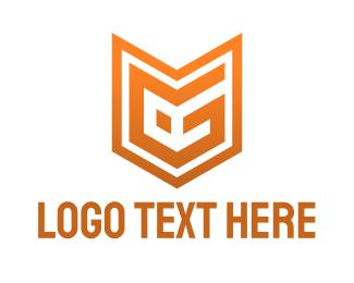Modern Orange EG Logo