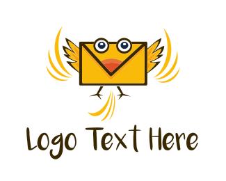 Birdie - Mail Birdie logo design