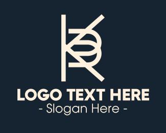 """White KB Monogram"" by SimplePixelSL"