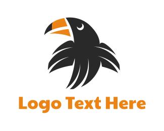 Brazil - Flying Black Toucan logo design