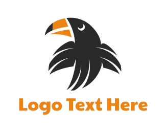 Fly - Flying Black Toucan logo design