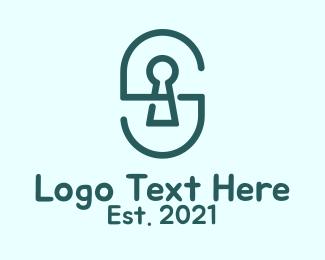 Locksmith - Green Locksmith Letter S  logo design