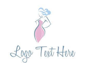 Boutique - Woman Silhouette logo design