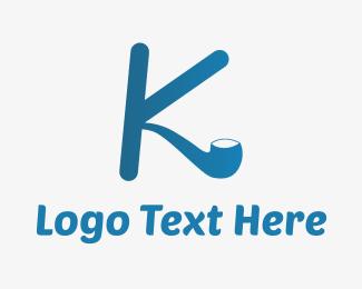 Weed - K Pipe logo design