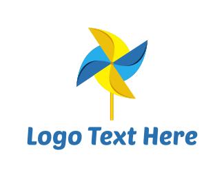 Breeze - Pinwheel Toy logo design