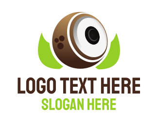Loudspeaker - Coconut Speaker logo design