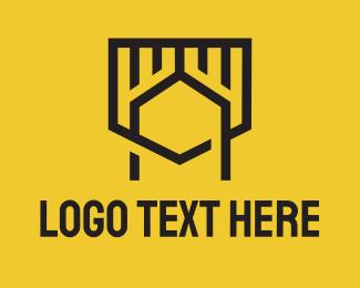 A - Monoline Shield Letter A logo design