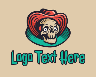 Dia De Los Muertos - Big Hat Skeleton logo design