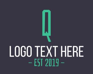 Letter - Green Letter Q logo design