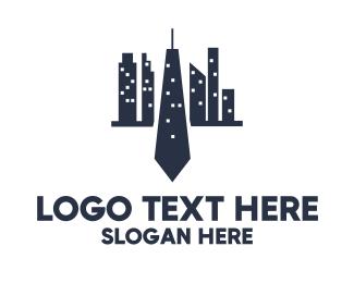 Buildings - Blue Tie City logo design