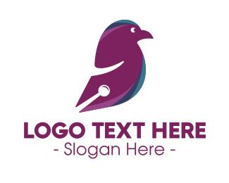 Material - Digital Bird logo design