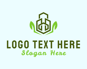 Town - Eco Buildings logo design