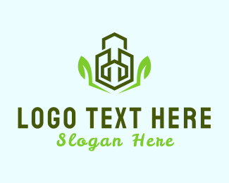 Green City - Eco Buildings logo design