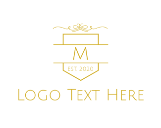 """Golden Luxurious Emblem Lettermark"" by BrandCrowd"