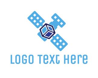 Positioning - Satellite Cube logo design