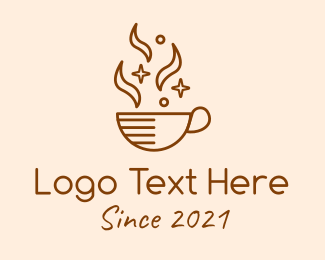 Coffee Cup - Sparkling Coffee Cup logo design