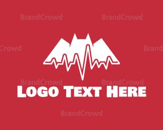 Cardiology - Bat Pulse logo design