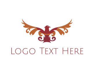 Chauffeur - Red Elegant Eagle  logo design