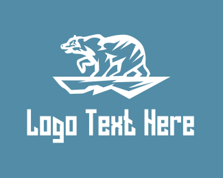 Glacier - Polar Bear logo design
