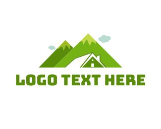 Villa - Mountain House logo design