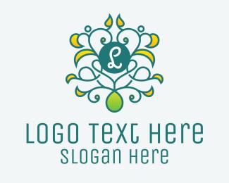 Zen - Ornament Vine Letter logo design