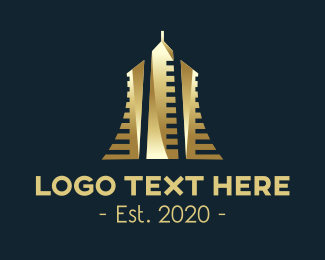 Business Firm - Gold Premium Building logo design