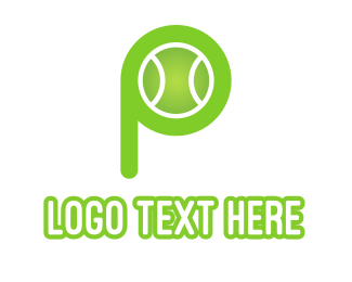 Itf - Green P Tennis Ball logo design