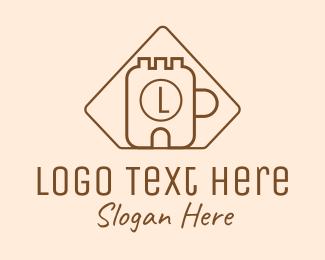 Fort - Fort Mug Cafe Letter logo design