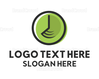 Second - Green Clock  logo design