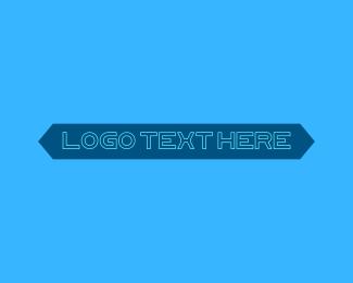 Information Technology - Futuristic Technological Wordmark Text logo design