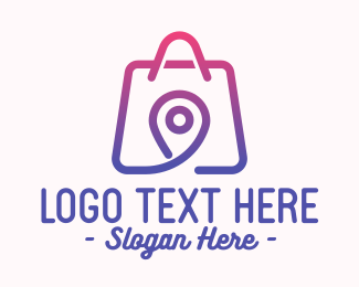 Shopping Business - Location Shopping Bag logo design
